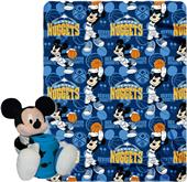 NBA Nuggets Disney Mickey Hugger & Fleece Throw