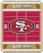 Northwest NFL 49ers Field Baby Woven Throw