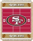 Northwest NFL 49ers Field Baby Woven Throw