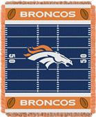 Northwest NFL Broncos Field Baby Woven Throw
