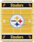 Northwest NFL Steelers Field Baby Woven Throw