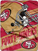 Northwest NFL 49ers Deep Slant Micro Raschel Throw