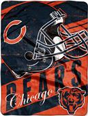 Northwest NFL Bears Deep Slant Micro Raschel Throw