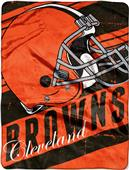 Northwest NFL Browns Deep Slant Raschel Throw