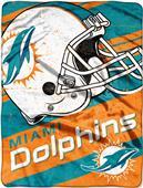 Northwest NFL Dolphins Deep Slant Raschel Throw