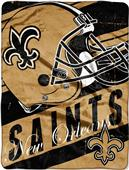 Northwest NFL Saints Deep Slant Raschel Throw