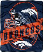 Northwest NFL Broncos Grand Stand Raschel Throw