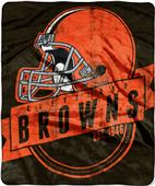 Northwest NFL Browns Grand Stand Raschel Throw