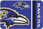 Northwest NFL Ravens Round Edge Bath Rug