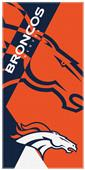 Northwest NFL Broncos Puzzle Oversized Beach Towel