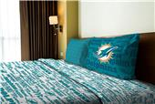 Northwest NFL Dolphins Anthem Twin Sheet Set