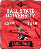 NCAA Ball State Label Raschel Throw