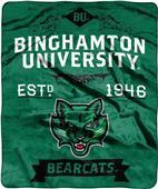NCAA Binghamton Label Raschel Throw
