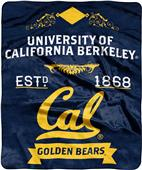 NCAA Cal Berkeley Label Raschel Throw