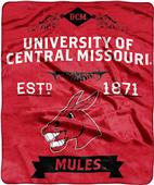 NCAA Central Missouri Label Raschel Throw