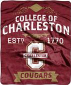 NCAA Charleston College Label Raschel Throw
