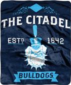 NCAA Citadel Label Raschel Throw