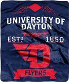 NCAA Dayton Label Raschel Throw