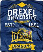 NCAA Drexel Label Raschel Throw