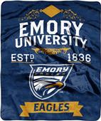 NCAA Emory Label Raschel Throw