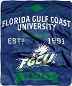 NCAA Florida Gulf Coast Label Raschel Throw