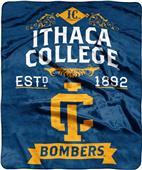 NCAA Ithaca College Label Raschel Throw