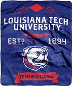 NCAA Louisiana Tech Label Raschel Throw
