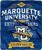 NCAA Marquette Label Raschel Throw