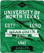 NCAA University North Texas Label Raschel Throw