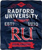 NCAA Radford University Label Raschel Throw