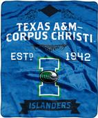 NCAA Texas A&M Corp Christi Label Raschel Throw