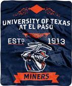 NCAA Texas El Paso Label Raschel Throw