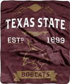 NCAA Texas State Label Raschel Throw