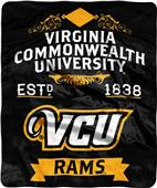 NCAA Virginia Commmonwealth Label Raschel Throw