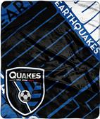 MLS San Jose Earthquake Scramble Raschel Throw