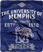 NCAA Memphis Label Raschel Throw