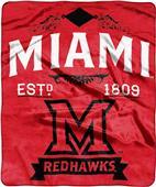 NCAA Miami Ohio Label Raschel Throw