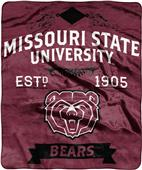 NCAA Missouri State Label Raschel Throw
