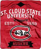 NCAA St. Cloud State Label Raschel Throw