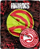 Northwest NBA Hawks Dropdown Raschel Throw