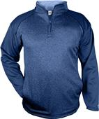 Badger Sport Adult Sport Heather Tonal 1/4 Zip