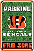 NFL Cincinnati Bengals Plastic Parking Sign