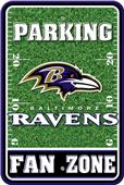 NFL Baltimore Ravens Plastic Parking Sign