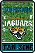 NFL Jacksonville Jaguars Plastic Parking Sign