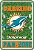 NFL Miami Dolphins Plastic Parking Sign