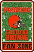 NFL Cleveland Browns Plastic Parking Sign