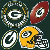 NFL Green Bay Packers 4 Piece Magnet Set