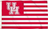Collegiate Houston Stripes 3'x5' Flag w/Grommets