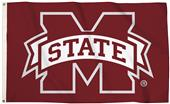 Collegiate Miss State Logo 3'x5' Flag w/Grommets
