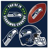 NFL Seattle Seahawks 4 Piece Magnet Set